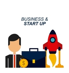business and start up design vector image