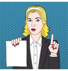 Businesswoman with document vector image