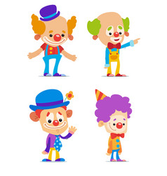 cartoon clowns vector image vector image