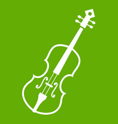 cello icon green vector image