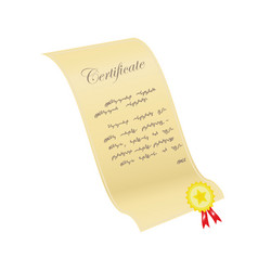 certificate with a sticker vector image