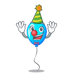 clown blue balloon bunch design on cartoon vector image