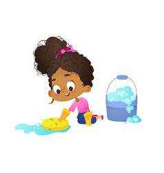 Concept of children doing household routines vector