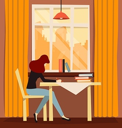 Cozy workplace vector image