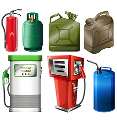 Different fuel containers vector image