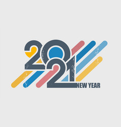 digits year typography vector image