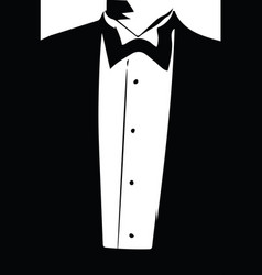 Drawing of elegant young fashion man in tuxedo vector