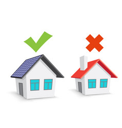 ecohouse and chimney house choice vector image