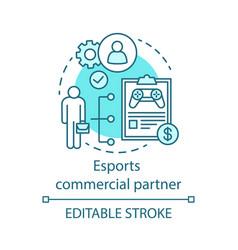Esports commercial partner concept icon vector