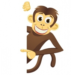 funny monkey and blank space vector image