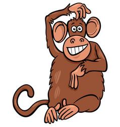 Funny monkey animal character cartoon vector