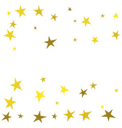 golden cute hand drawn stars vector image