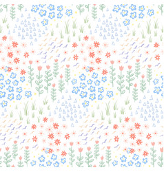 hand drawn doodle seamless pattern background vector image