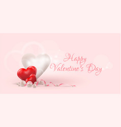 happy valentine daylovely card with heartcreative vector image