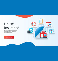 House insurance concept schedule calculation vector