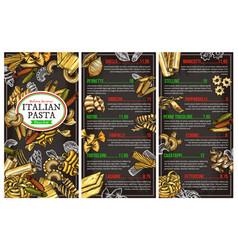 Italian pasta restaurant menu vector