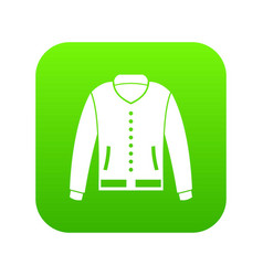 jacket icon digital green vector image
