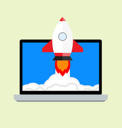 launch startup project vector image