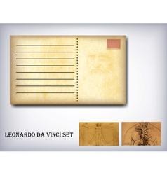 Leonardo da vinci set vector