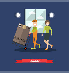 Loader concept in flat style vector