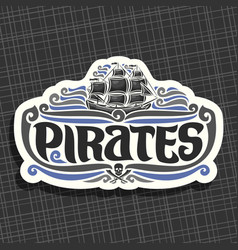 logo for pirates vector image
