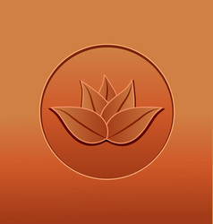 lotus plant vintage abstract vector image