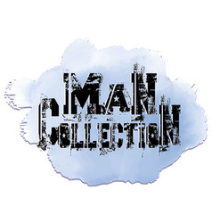 Man collection grunge decorative 3d lettering vector