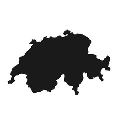 map of the swiss confederation vector image