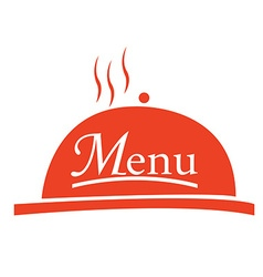 Menu design vector image