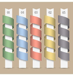 Modern numbered colored ribbons banners vector image