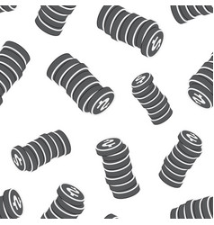 money dollar coins seamless pattern background vector image