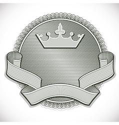 Money style emblem vector image