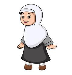 muslim girl exspresion vector image