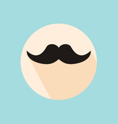 Mustache hipster symbol flat style with long vector