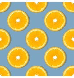 Orange slice fruit seamless pattern Citrus vector