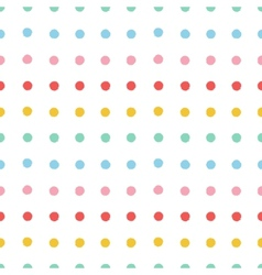 Painted polka dots seamless pattern vector image