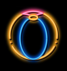 Playing ball neon glow icon vector