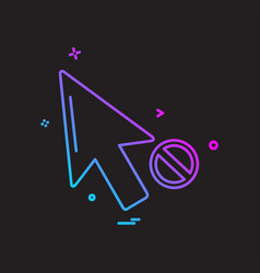 pointer icon design vector image