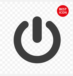 Power button icon icon start isolated vector