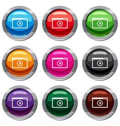 Program for video playback set 9 collection vector