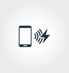 Recharge network creative icon monochrome style vector