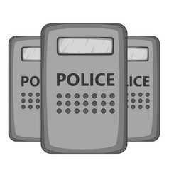 Riot shields icon monochrome vector