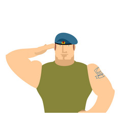 russian military salute russia soldiers isolated vector image