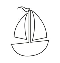 Sailboat vehicle isolated icon vector