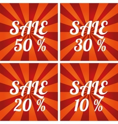 Sale design template vector image