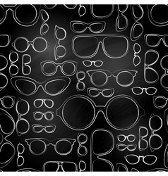 seamless pattern from chalk glasses vector image