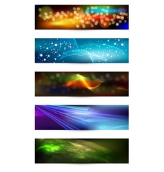 Set of elegant iridescent banners vector image