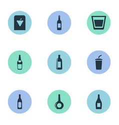 Set simple water icons vector