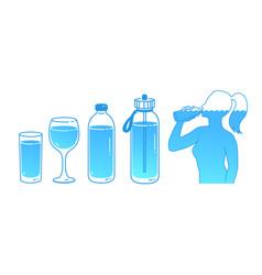 set water balance concept vector image