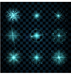 Shine blue stars glitters vector
